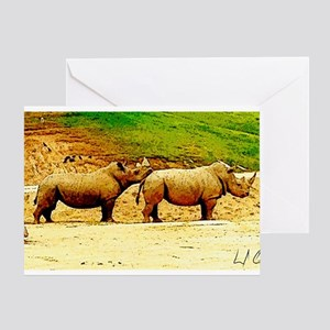 Chin Rest Greeting Cards